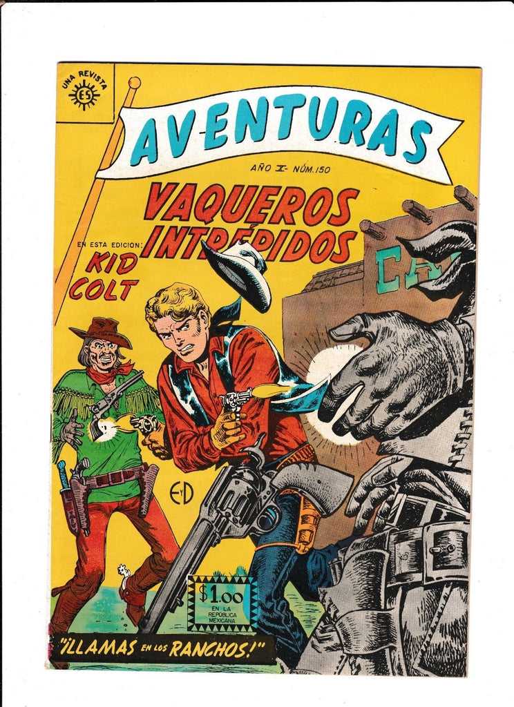 AVENTURAS #150  [1961 FN-]  MEXICAN KID COLT ISSUE!