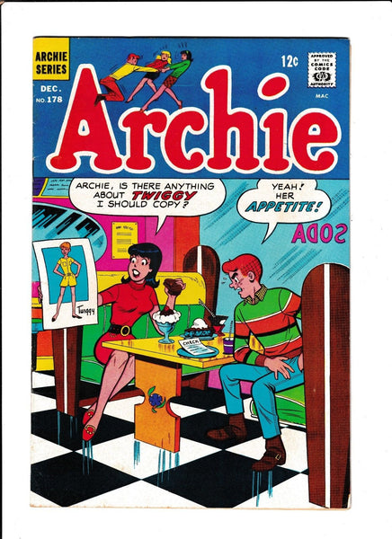 ARCHIE #178  [1967 VG-FN]  ICE CREAM COVER!