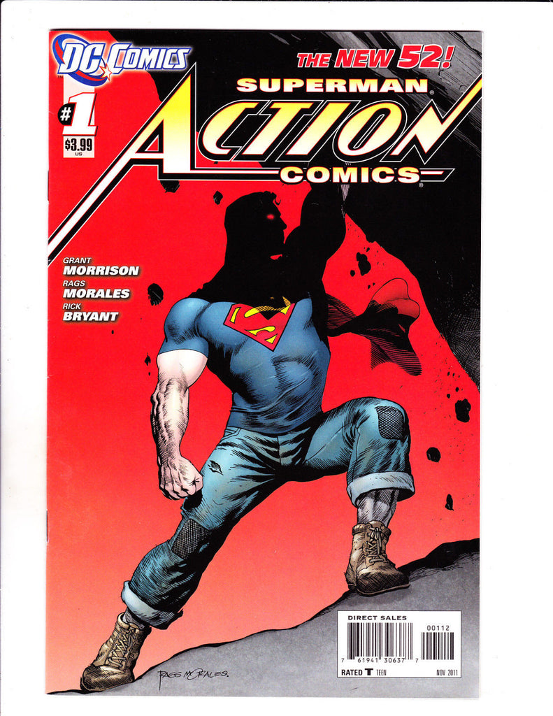 Action Comics No 1-8 Set 2011-12 Set Great Superman Set!
