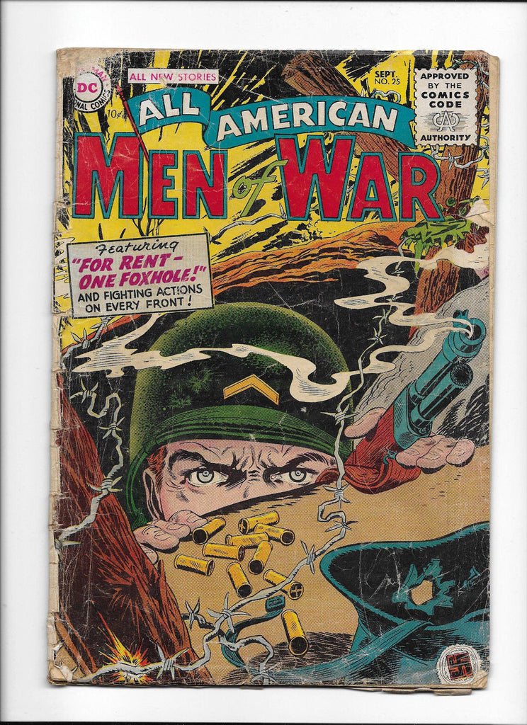 ALL AMERICAN MEN OF WAR  #25  [1955 PR-FR]