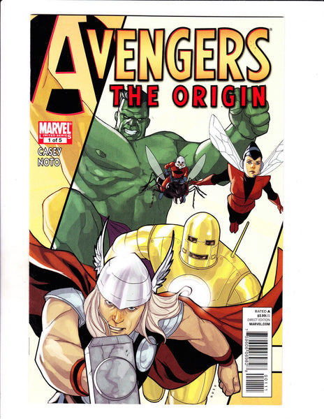 Avengers The Origin No 1-5 Set 2010 Marvel Five Issue Limited Series Set !