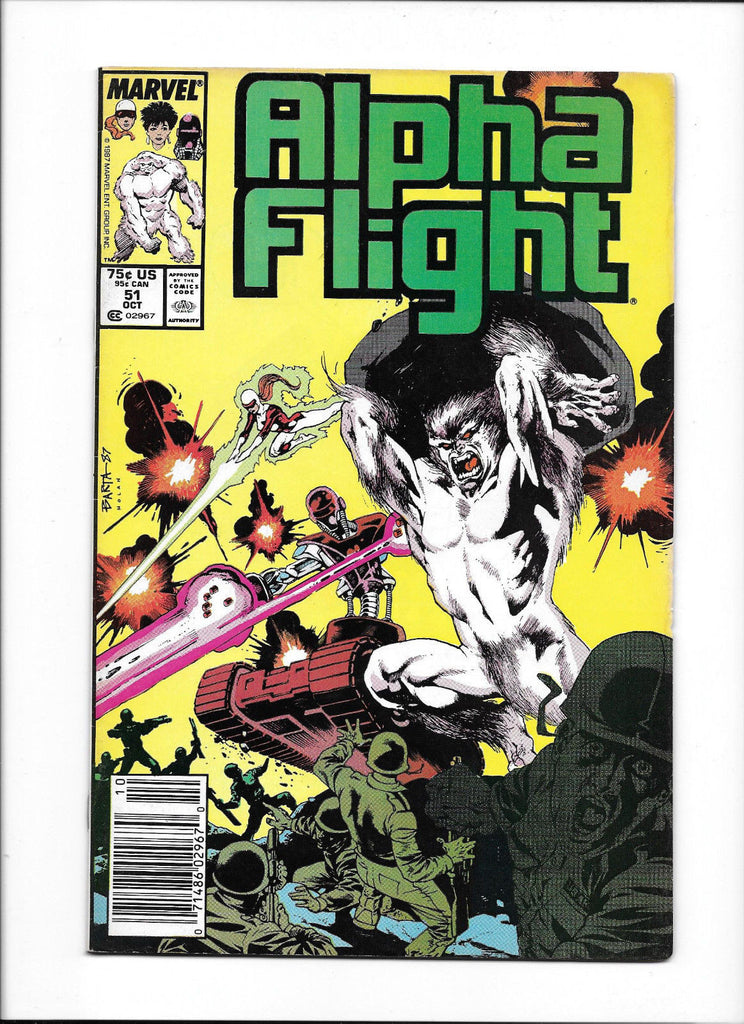 ALPHA FLIGHT #51  [1987 GD+]
