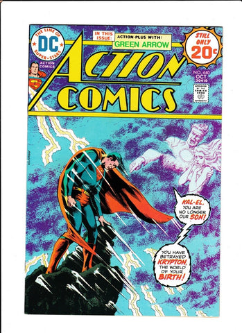 ACTION COMICS #440  [1974 FN-VF]  1ST GRELL ART ON GREEN ARROW!