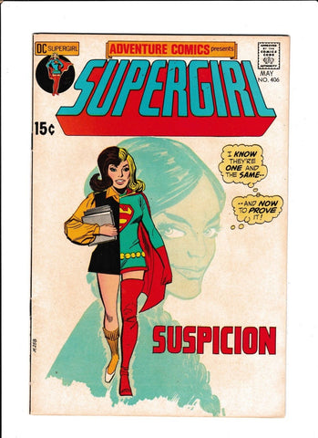 ADVENTURE COMICS #406  [1971 FN-VF]  SUPERGIRL
