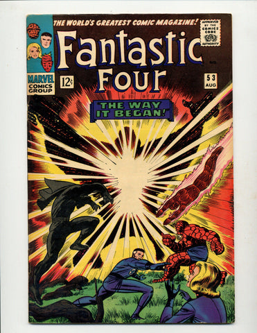 FANTASTIC FOUR #53  [1966 FN+]  ORIGIN BLACK PANTHER!