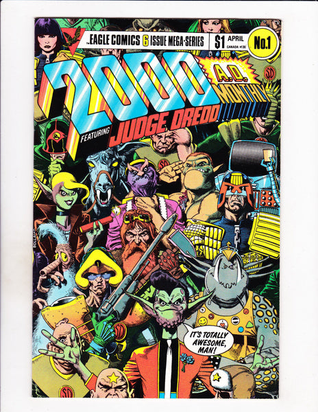 2000 A.D. Monthly No 1-6 Set 1985 Six Issue Judge Dredd Mega-Series Set!