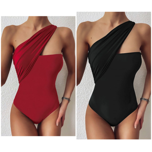 """Liv"" One Piece Asymmetrical Swimsuit"