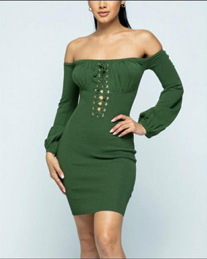 Green Fitted Dress