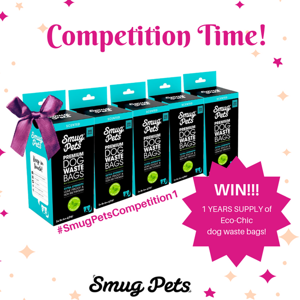 Eco-Friendly Dog Waste bags to be won each month!