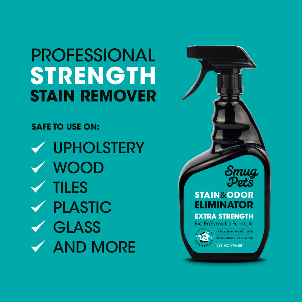 SmugPets Professional Strength Stain & Odour Eliminator Spray - SmugPets