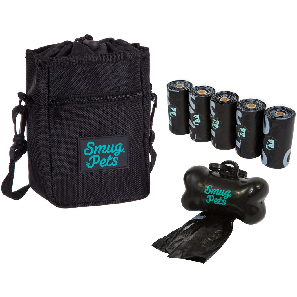 Smug Pets Starter Kit with Treat Bag, Dispenser and 75 Dog Waste Bags-SmugPets