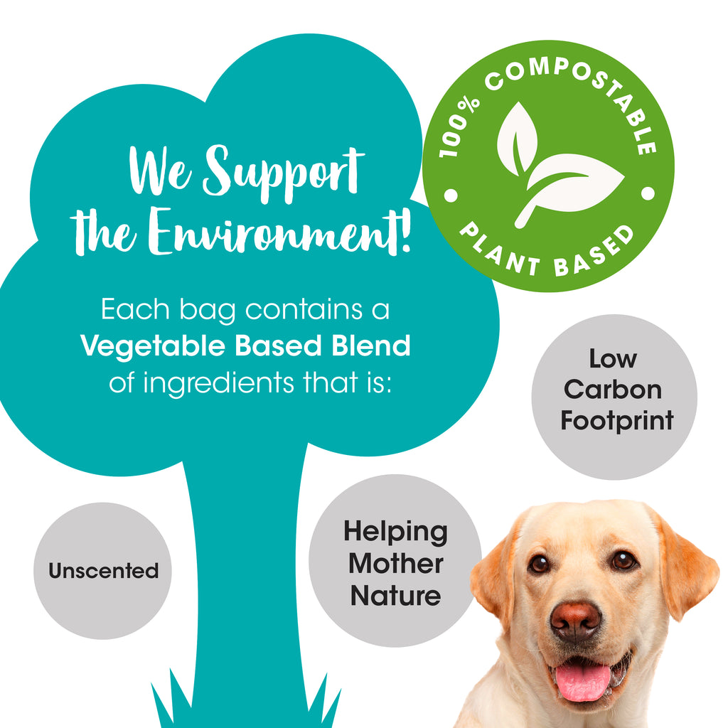 SmugPets Premium 100% Compostable Biodegradable Dog Waste Bags - Extra Large - 15 Bags per Roll - 60 Bags - Eco Friendly - SmugPets