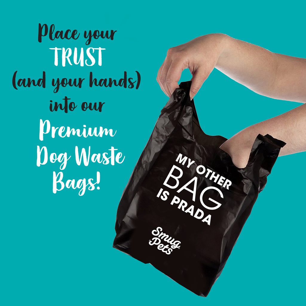 SmugPets 300 Premium Easy Tie Handles Dog Waste Bags - Scented - Extra Large - Eco Friendly