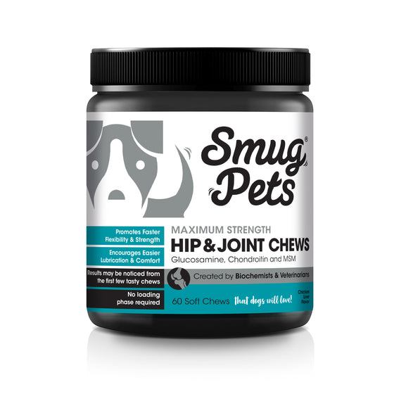 SmugPets Maximum Strength Hip and Joint Chews for Dogs