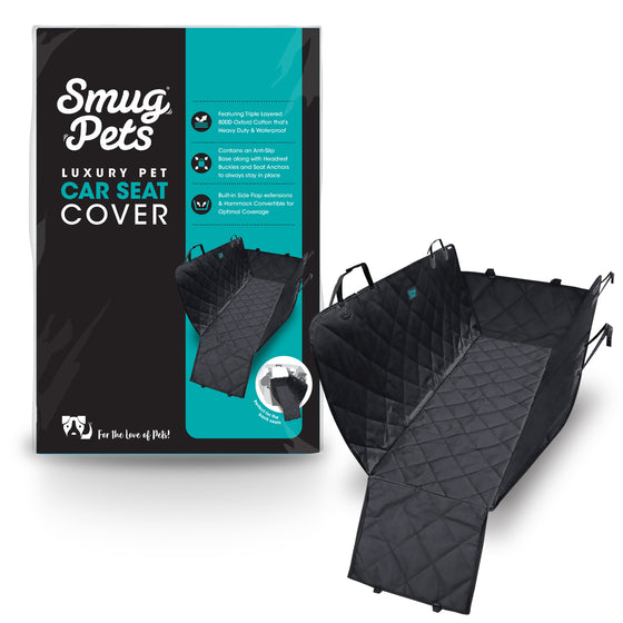 SmugPets Car Back Seat Protector for Dogs