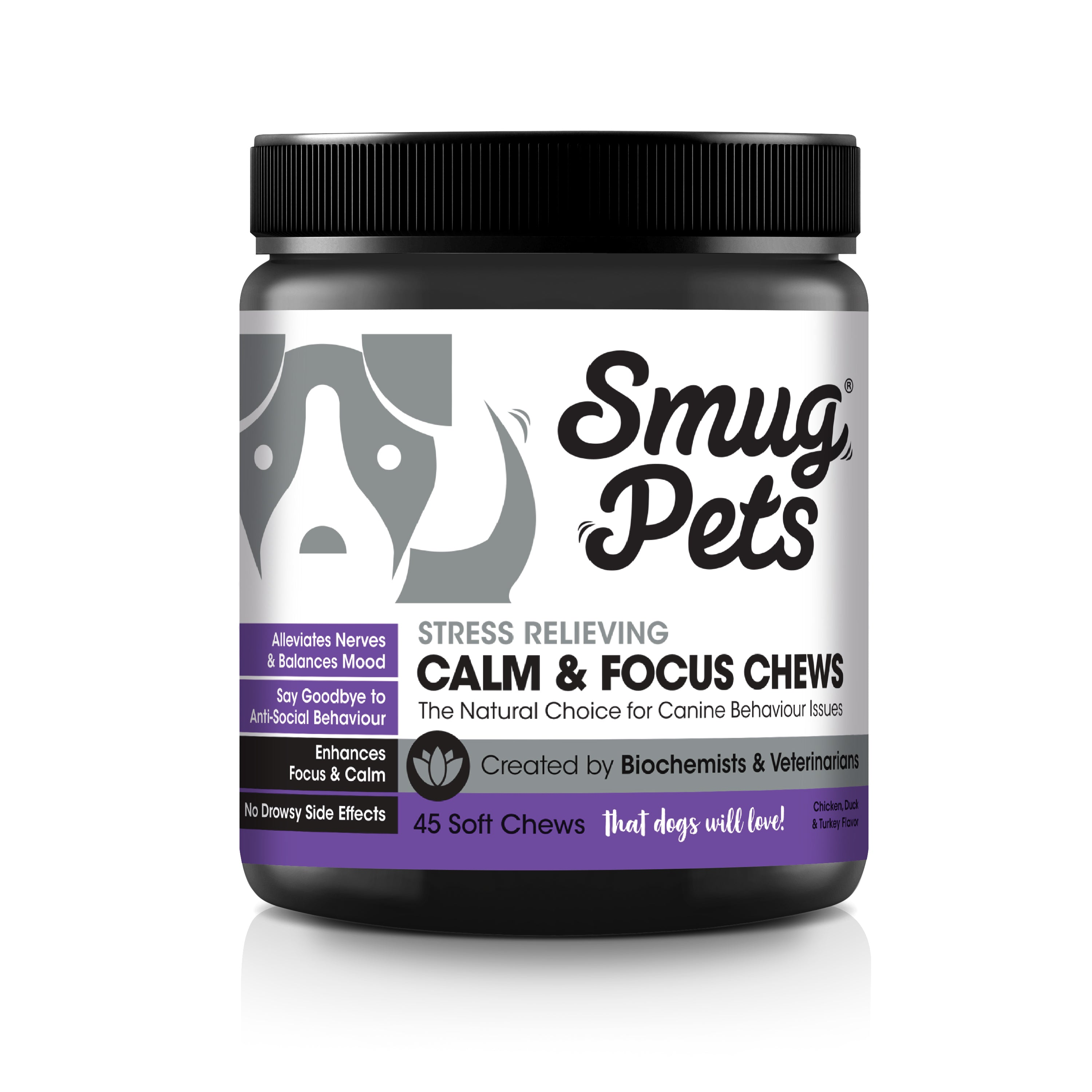 SmugPets Calming Pet Chews for Anxiety Relief for Dogs
