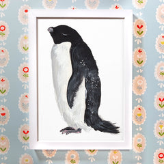 Adelie Penguin Print by Abby Cook Illustration