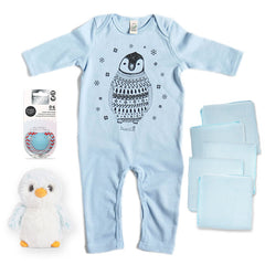 Deluxe Babygrow & Soft Toy Baby Gift Box in Blue