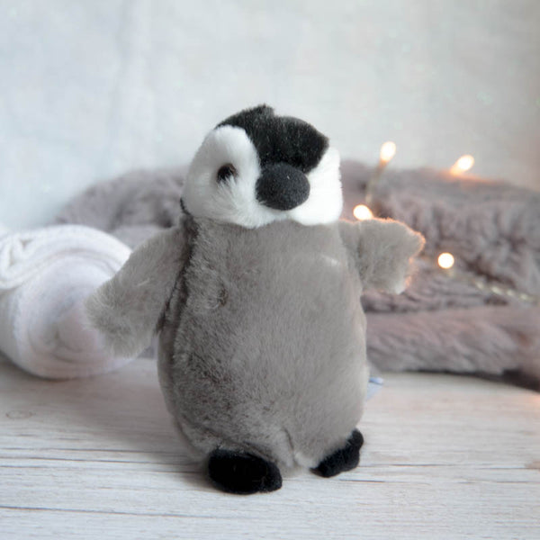Emperor Penguin Chick 5in (12cm) Plan International Mini Penguin Soft Toy by Nature Planet