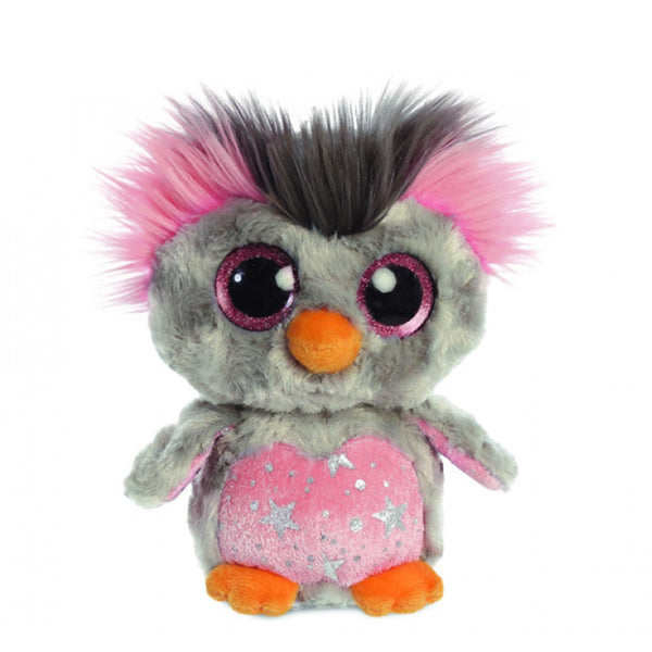 Hoppee Rockhopper Small Pink Penguin Soft Toy (5in / 12cm) by Aurora