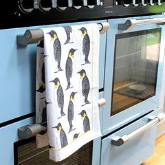 'Penguin Party' Penguin Tea Towel by Martha & Hepsie
