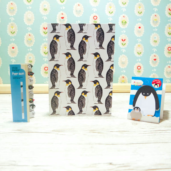 Penguin Notebook & Sticky Notes Stationary Bundle
