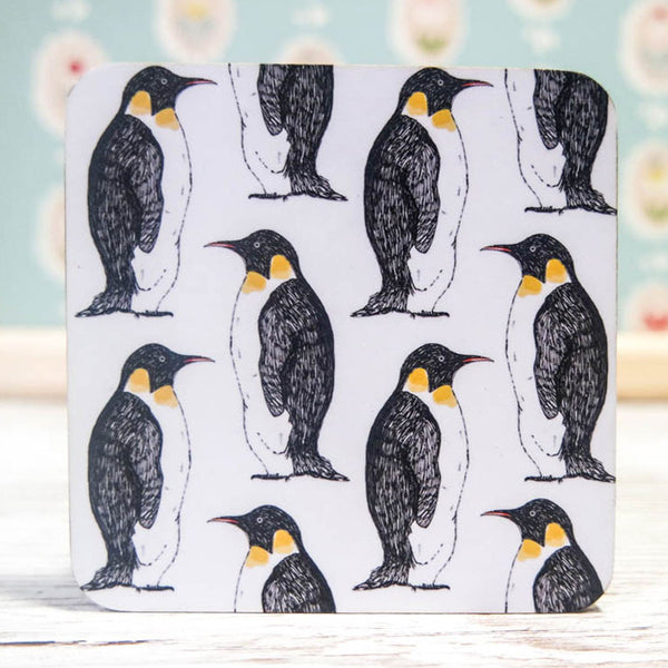 Penguin Party Coaster Set of 4 by Martha & Hepsie