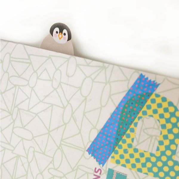 Penguin and Chick Index Tabs & Sticky Note Pad