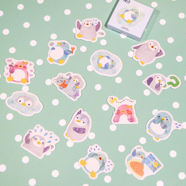 Penguin Sticker Set (45 Pieces) by Candy Poetry