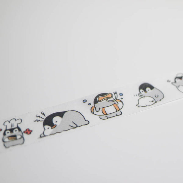 Illustrated Penguin Activities 15mm Animal Washi Tape by Infeel.me