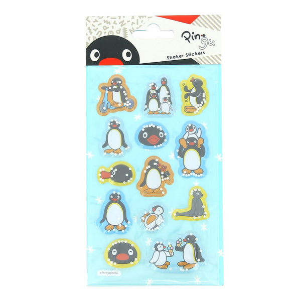 Pingu 3D Shaker Sticker Set