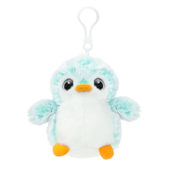 Blue Penguin Pom Pom Backpack Clip by Aurora