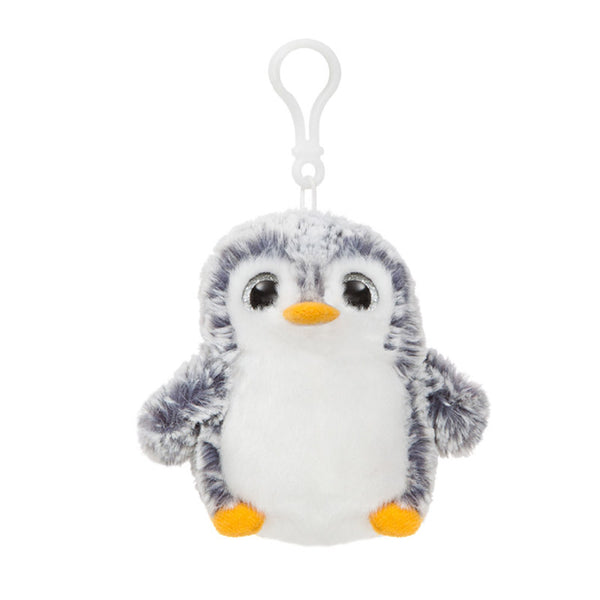Grey Penguin Pom Pom Backpack Clip by Aurora