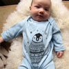 Percy the Baby Penguin Long Sleeved Baby Grow in Blue by Boodle