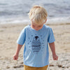 Percy the Baby Penguin Kids T-Shirt in Blue by Boodle
