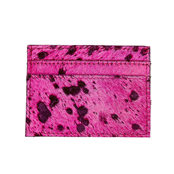 Blair - Leather Credit Card Holder - Fuchsia