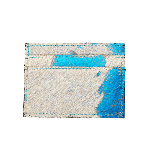 Blair - Leather Credit Card Holder - Azure