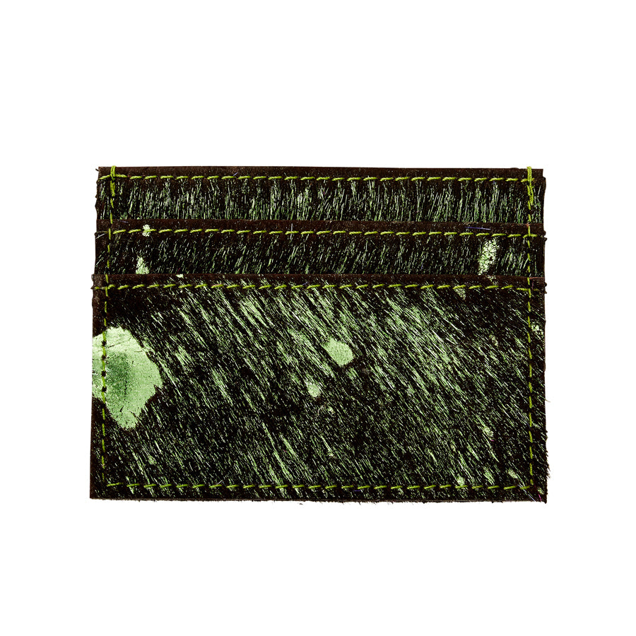 Blair - Leather Credit Card Holder - Shamrock/Black