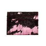 Blair - Leather Credit Card Holder - Bubblegum/Black
