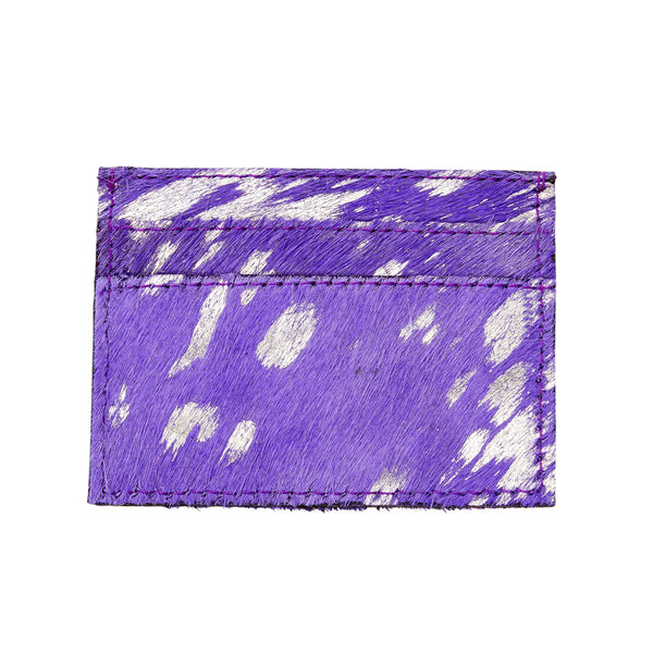 Blair - Leather Credit Card Holder - Amethyst