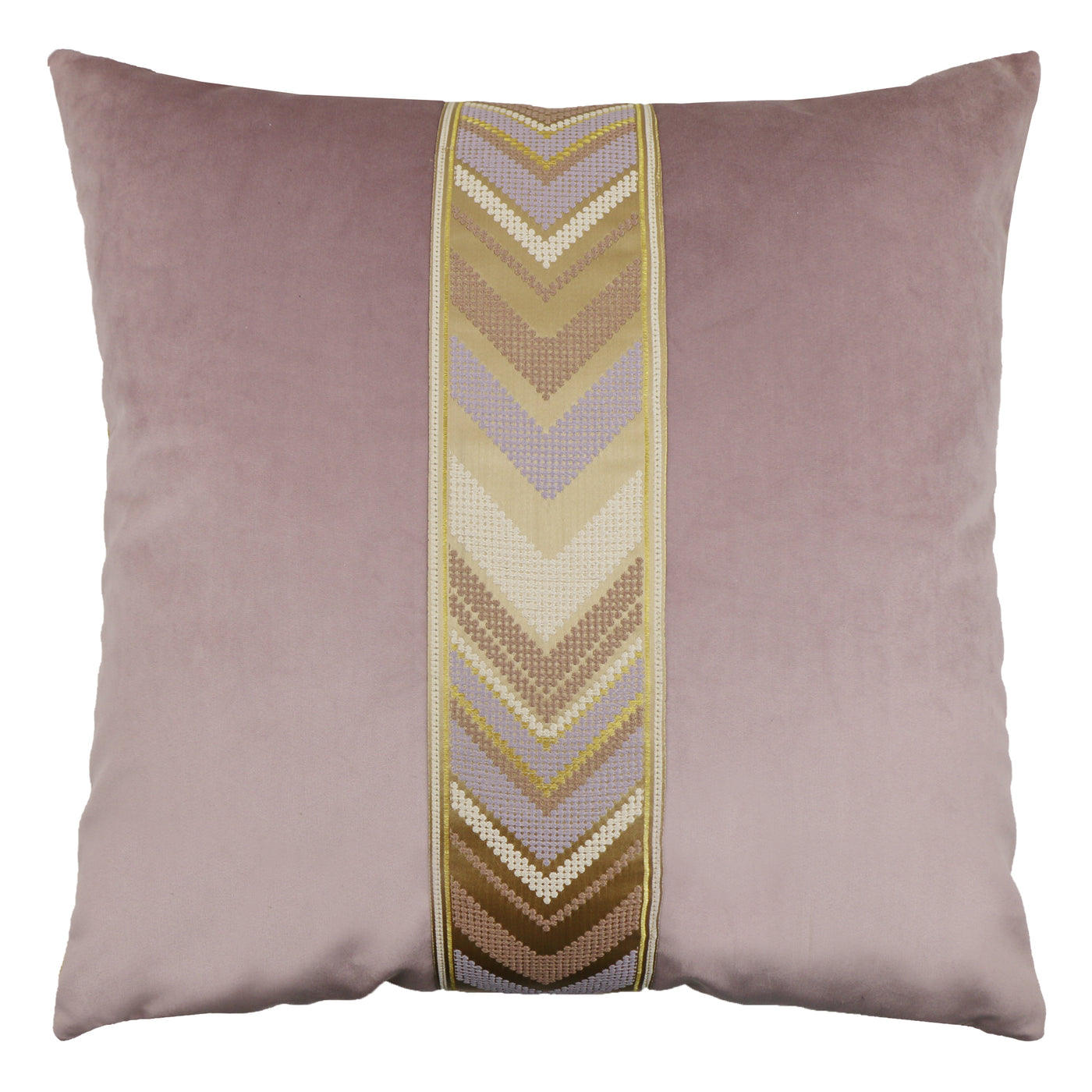 Addison Pillow - Orchid/Brass PT-102