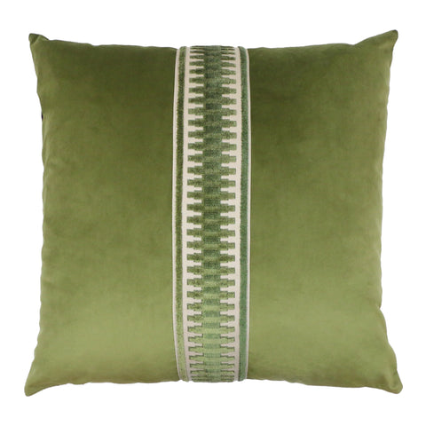 Addison Pillow - Avocado/Chocolate PT-103C