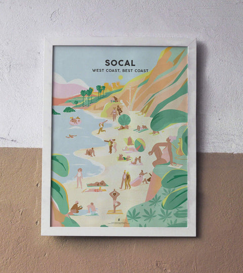 Southern California Cannabis Travel Print by Eugenia Mello x Goldleaf