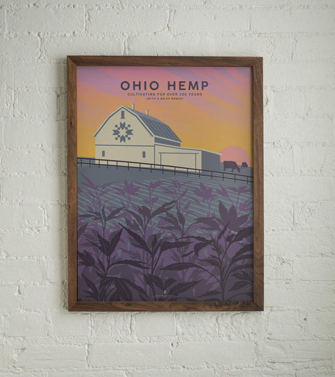 Goldleaf | Ohio Hemp Poster | Art by John Vogl