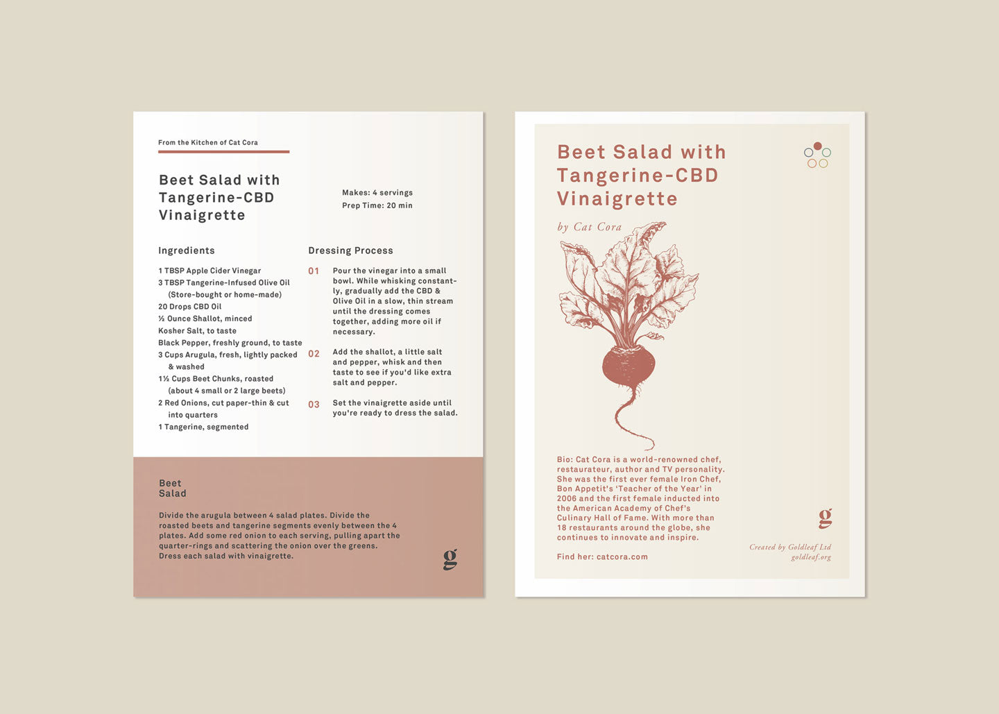 Beet Salad Card Recipe