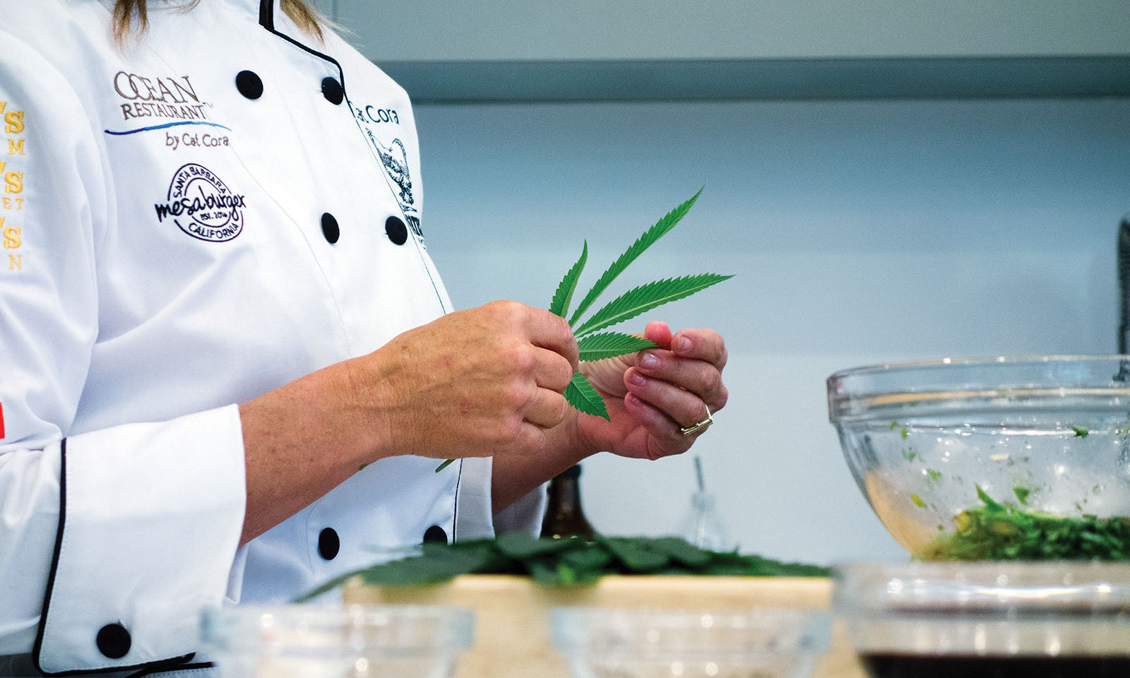 Cat Cora, cooking with cannabis