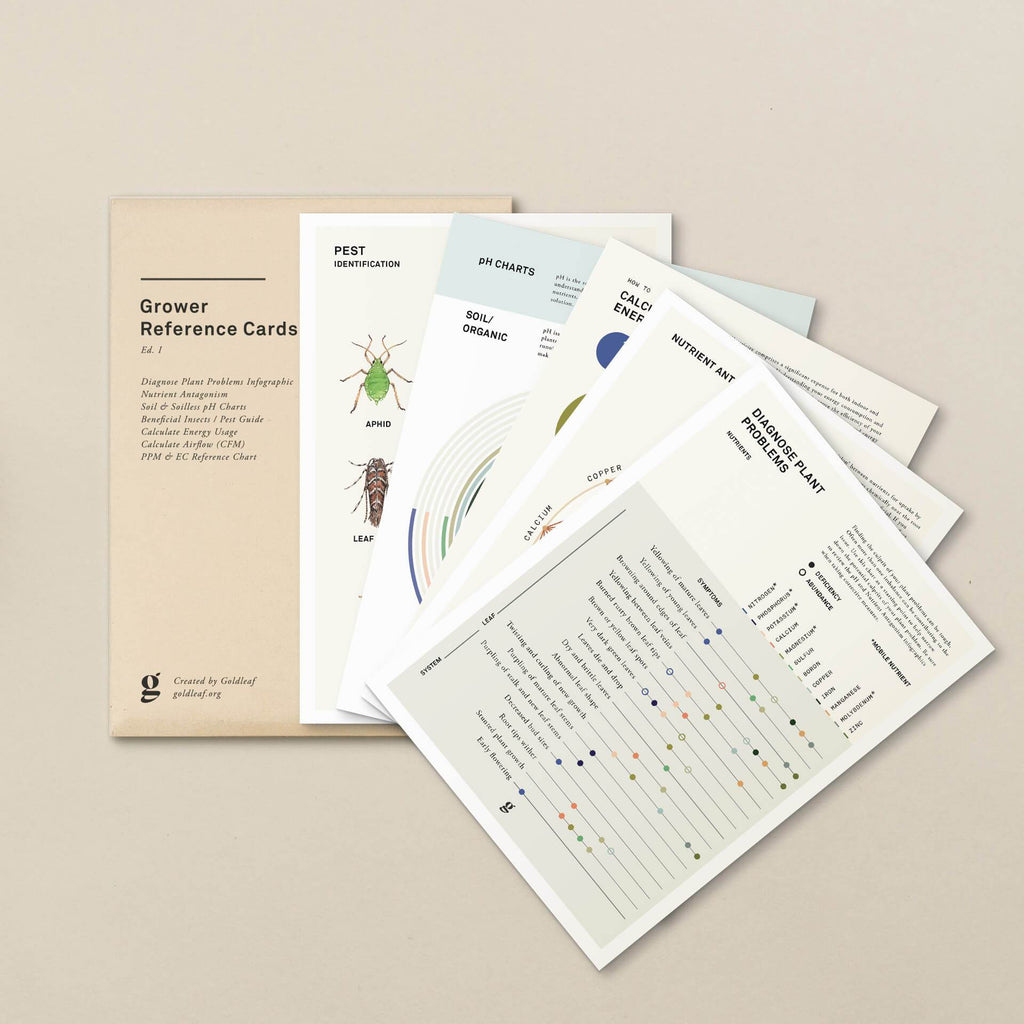 Goldleaf Cannabis Grower Reference Card Pack