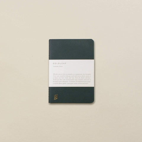 Cannabis Taster Pocket Journal by Goldleaf