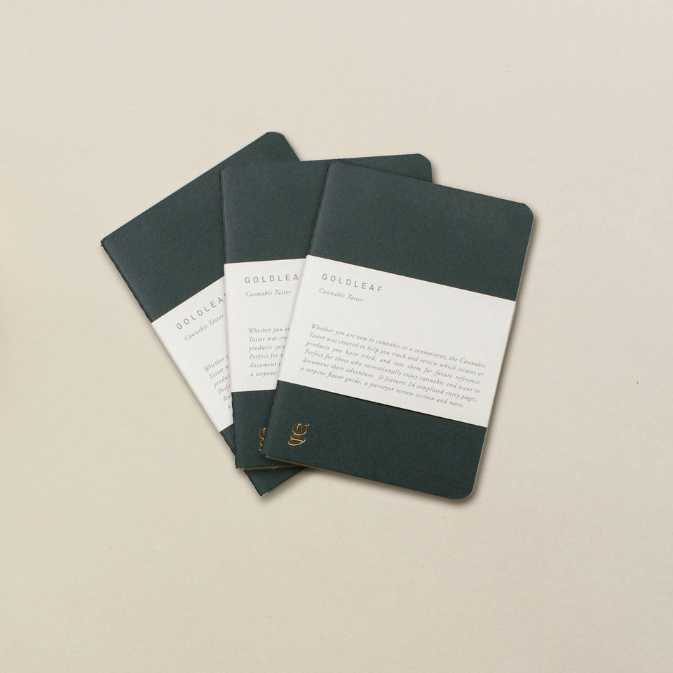 Goldleaf Cannabis Taster Journal 3-Pack
