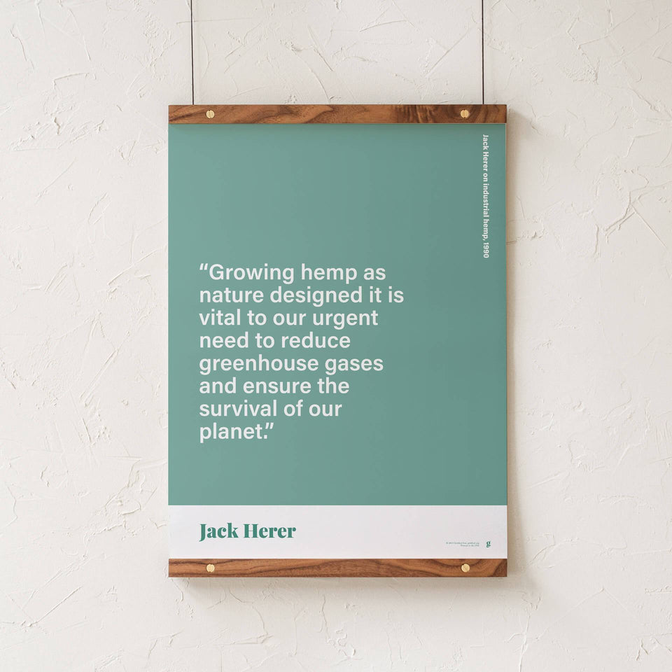 Jack Herer Quote Print - Cannabis Print Design - Marijuana Art - Goldleaf